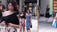 街拍美女:不管怎么样,美女后面看是还超性感的