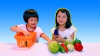 儿童过家家玩具,超市仿真购物篮,水果蔬菜模型