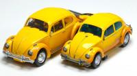 变形金刚2款大黄蜂电影KO黑曼巴LS-07黄蜂战士合金版变形玩具对比