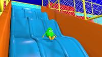 奇趣蛋玩滑梯认识颜色