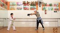【龙凤艺术】邵东龙凤艺术培训学校-跆拳道学员训练展示5-步法腿法练习