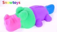 手工粘土制作彩色鳄鱼 学习颜色英语儿童歌曲 学习宝宝英语歌曲