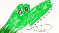 鳄鱼的画法——小常姐姐简笔画