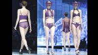 缔妒·简新品内衣秀 蒙面走秀 演绎紫衣魅力
