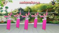 阳光美梅原创广场舞-旗袍秀《风中花雨楼》演示:梅子-编排:美梅
