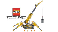 乐高科技机械TECHNI系列42097精巧型履带起重机积木