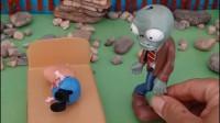乔治在睡觉,奥特曼来找僵尸,原来僵尸藏在乔治的床底下!