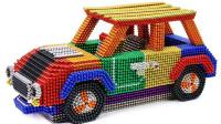 用磁球制作彩色迷你小汽车
