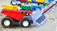 神奇工程翻斗车:哇!哪里来的雷神之锤,儿童玩具车工程车儿童视频