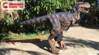 人穿霸王龙道具套装-恐龙剧场表演道具
