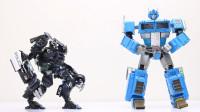 定格动画-乐高城市故事之假冒钢铁侠驾驶霸天虎路障VS擎天柱机器人变形玩具
