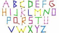 磁性玩具组成字母学习颜色