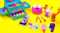 手工制作芭比女孩的梳妆盒