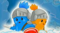 双猫战士 寒冬腊月上雪山寻找金币 森林冰火人游戏