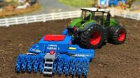 牵引车使用工具翻新土壤