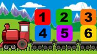 亲子互动 小火车带你学习英文认识数字