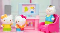 HelloKitty玩具屋 凯蒂猫的韩版豪华双层大别墅