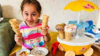 萌宝儿童玩具早教故事:小萝莉如何做冰淇淋呢?为何小孩都不爱吃呢?