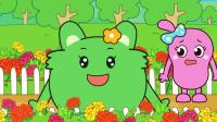 咕力咕力好习惯:不摘花 有了花儿我们的世界才会更加缤纷多彩,小朋友们要保护植物哦