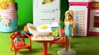 73 美丽的芭比帮助小凯丽做早餐