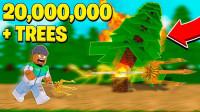 小飞象解说✘Roblox森林模拟器 我的世界穿越不同地区收集材料!乐高小游戏