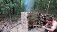 澳洲小哥 第50集  最新原始技能 建造烧窑烧制砖块