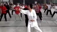 搭手人飞的太极绝技!闫芳大师的一套太极拳,吸引众多弟子观看