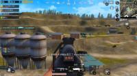 绝地求生刺激战场:首次玩野牛冲锋枪,远程扫射比M4还稳,完美7杀吃鸡!