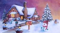 水彩圣诞雪景(下)