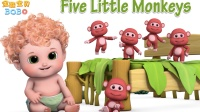 Five Little Monkeys 动物小猴子