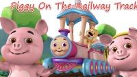 Piggy On The Railway 动物可爱小猪