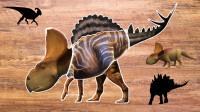 五只恐龙拼接成一种新恐龙