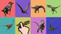 学习认识角鼻龙、伶盗龙等8种恐龙