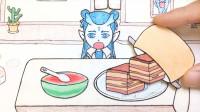 手绘定格动画:趁哪吒不在,给敖丙加餐,红烧肉和西瓜