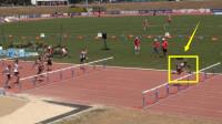 这才是飞人?跨栏17岁天才飞人爆发甩开第二名3米夺冠破世界纪录