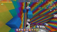 迷你世界彩虹跑酷:三个人一起比赛跑酷!看看谁是第一名