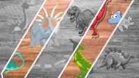 恐龙来找茬 帮助戟龙、翼龙等8种恐龙穿上彩色衣服