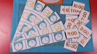 幼儿园认识时间游戏活动自制玩教具