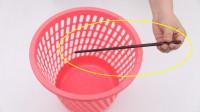 垃圾桶上放一根筷子,真是太聪明了,很多家庭都不懂,家人直夸好