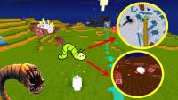 迷你世界:一口吃掉死亡蠕虫,哥斯拉都不是我的对手!