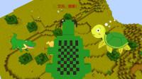 迷你世界:大乌龟吃小乌龟,感觉永远吃不完地图里的动物!