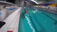 自由泳教学视频(一)——水中行走,游泳呼吸和多次腿