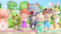 68灰太狼与小猪和乌龟种植植物歌曲学习英语儿歌认识颜色启蒙童谣!