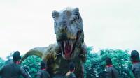 古代士兵去荒岛寻龙,来到之后,没想到被条恐龙给围攻了!