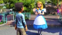 魔哒迪斯尼乐园游03:遇到梦游仙境的爱丽丝,帮助她寻找失踪的缎带