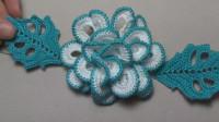 漂亮的立体毛线花朵,钩织方法很简单