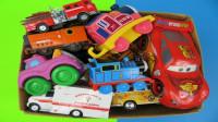 炫彩消防车装载机巨轮卡车玩具展示