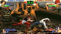 拳皇2000:草薙京与八神最势均力敌的一战,战况激烈最后双KO难分胜负
