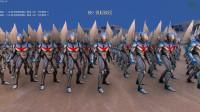 史诗战争模拟器:400个诺亚奥特曼VS二十波天神之力,会怎样?