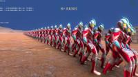 史诗战争模拟器:300个银河奥特曼VS三百名诺亚奥特曼,会怎样?